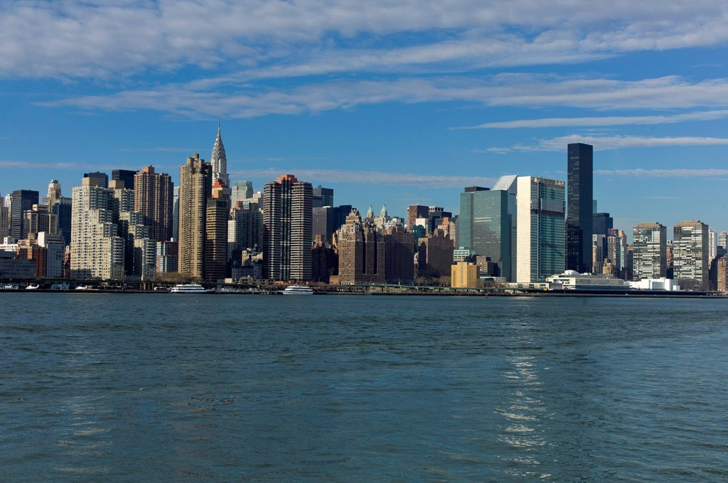 Stock Photo: 1848-661938 Skyline of New York, East River, New York, United States of America, USA