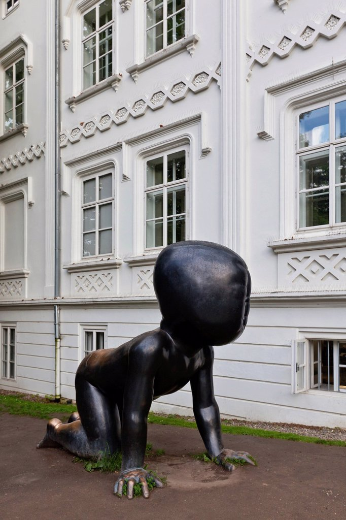 Stock Photo: 1848-662311 Bronze figure, Museum Kampa, Prague, Czech Republic, Europe