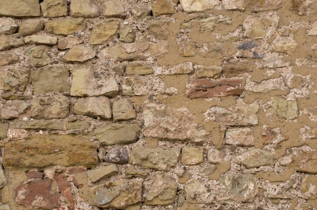 Stock Photo: 1848-663376 Mended natural stone wall