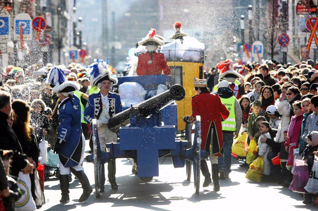 Stock Photo: 1848-663748 Rosenmontagszug, Carnival procession, Koblenz, Rhineland_Palatinate, Germany, Europe