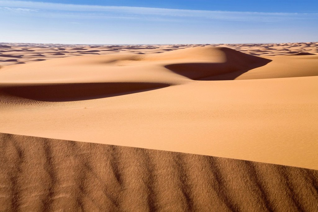 Dune, ridge, Libyan Desert, Libya, Africa : Stock Photo