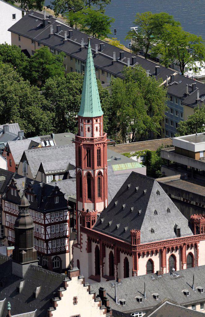 Stock Photo: 1848-665302 Old St. Nicholas Church, Frankfurt am Main, Hesse, Germany, Europe