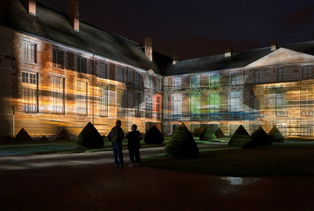 Stock Photo: 1848-665486 Musée des Beaux_Arts, Museum of Fine Arts, illuminated from April until September nightly at dusk, Chartres, Eure_et_Loir, France, Europe, PublicGround