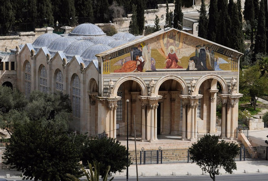 Church or Basilica of the Agony or Church of All Nations, Mount of Olives, Jerusalem, Israel, Middle East : Stock Photo
