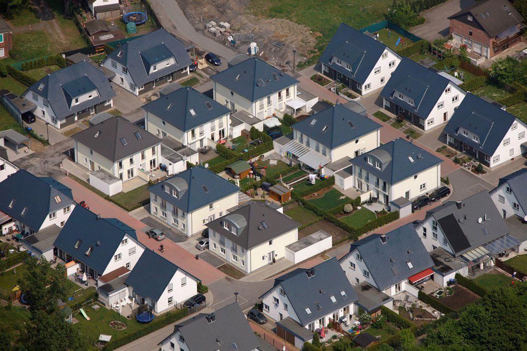 Stock Photo: 1848-667747 Aerial view, Unter den Telgen residential complex, Bergkamen, Ruhr area, North Rhine_Westphalia, Germany, Europe