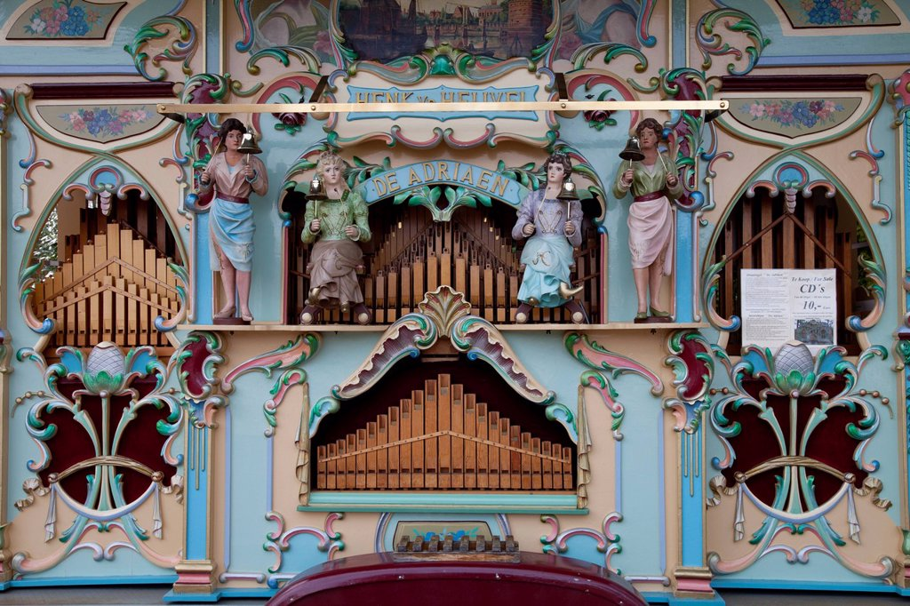 Fair organ, Keukenhof flower garden, Lisse, Netherlands, Europe : Stock Photo