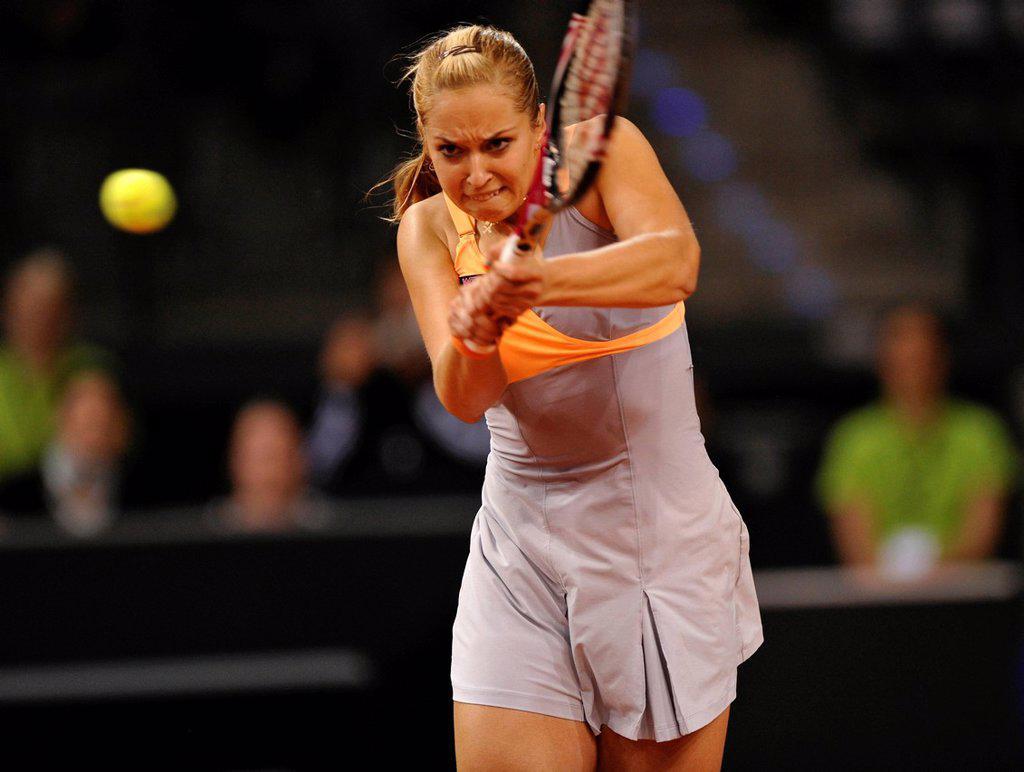 Sabine Lisicki, GER, Women´s tennis, Porsche Tennis Grand Prix Stuttgart, 2011, Porsche Cup, 16.04._24.04.2011, Porsche_Arena, Stuttgart, Baden_Wuerttemberg, Germany, Europe : Stock Photo