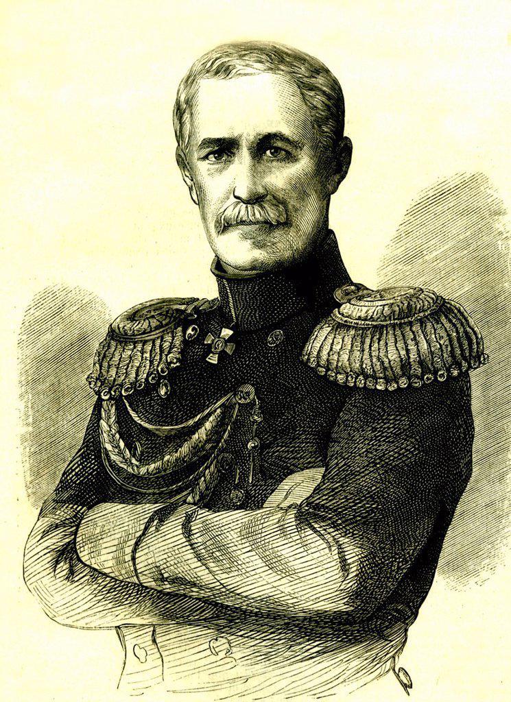Alexander Sergeyevich Menshikov, 1787 _ 1869, historical portrait, 1815 : Stock Photo