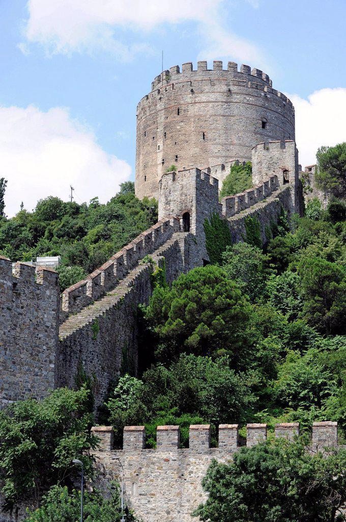 Stock Photo: 1848-670372 Rumelihisar&305, Fortress, Rumelian Castle, European Castles, Sariyer district, Bosphorus, Bogazici, European bank of Istanbul, Turkey