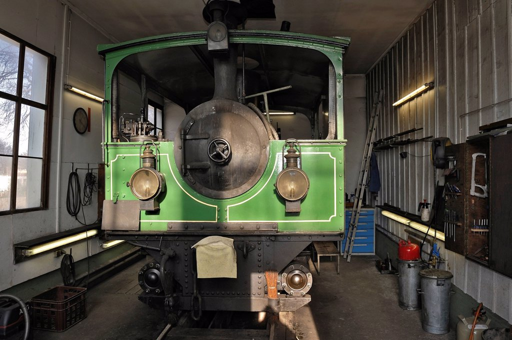 Stock Photo: 1848-671468 Steam locomotive of the Chiemsee_Bahn train from 1887, Bavaria, Germany, Europe