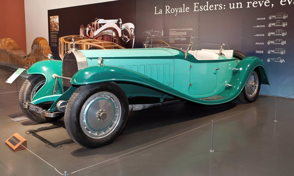 Bugatti, Collection Schlumpf, Cité de l´Automobile, Musée National, National Automobile Museum, Mulhouse, Alsace, France, Europe : Stock Photo