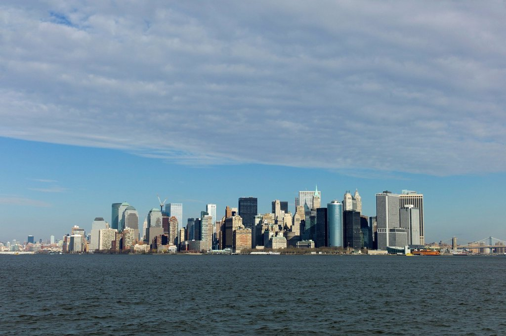 Stock Photo: 1848-674660 Skyline of Manhattan, New York, USA
