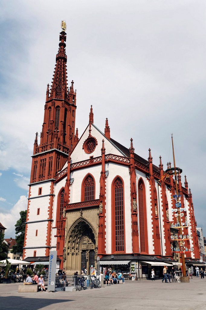 Stock Photo: 1848-674794 Gothic Marienkapelle chapel, Wuerzburg, Lower Franconia, Bavaria, Germany, Europe
