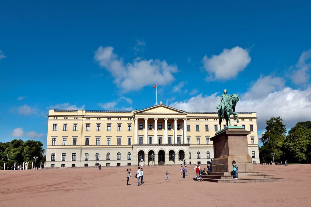Stock Photo: 1848-675734 The Royal Palace, Oslo, South Norway, Norway, Scandinavia, Europe