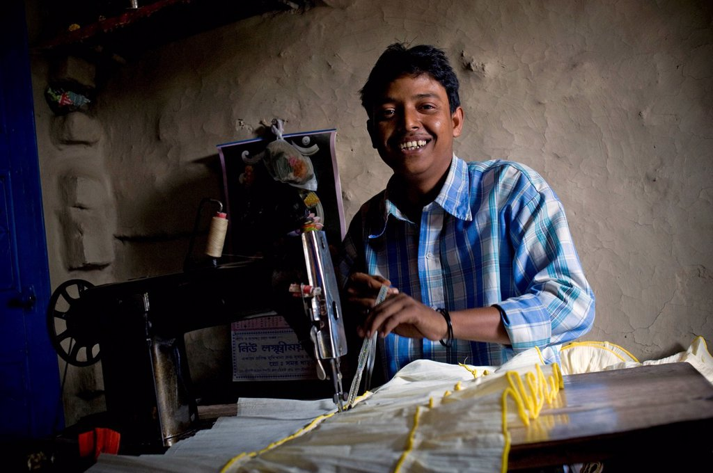 Stock Photo: 1848-675890 Tailor, Calcutta, Kolkata, West Bengal, India, Asia