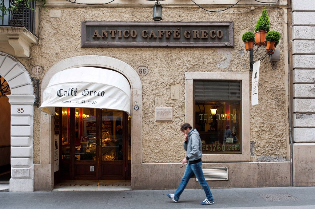 Stock Photo: 1848-676449 Antico Caffè Greco in Via Condotti, Rome, Lazio, Italy, Southern Europe, Europe