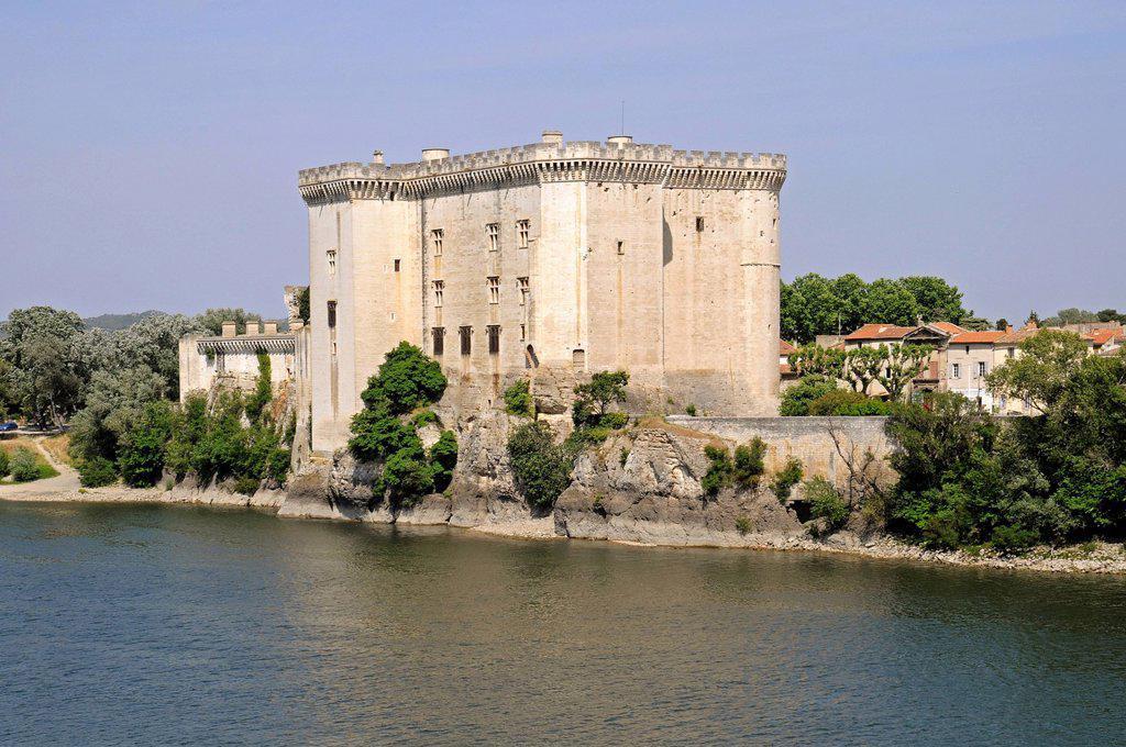 Castle on the Rhone River, Tarascon, Provence region, France, Europe : Stock Photo