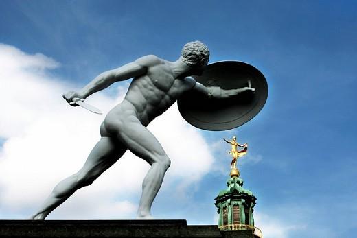 Stock Photo: 1848-67929 Sculpture, Charlottenburg castle, Friedensengel, Berlin, Germany