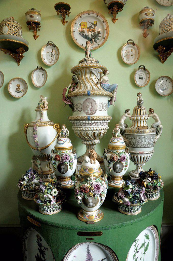 Stock Photo: 1848-679396 Porcelain collection, Rosenborg Slot or Rosenborg Castle, Copenhagen, Denmark, Scandinavia, Europe