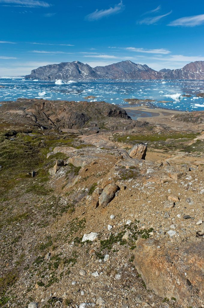 Stock Photo: 1848-679509 Ammassalik peninsula, beginning of the Sermilik Fjord, East Greenland, Greenland