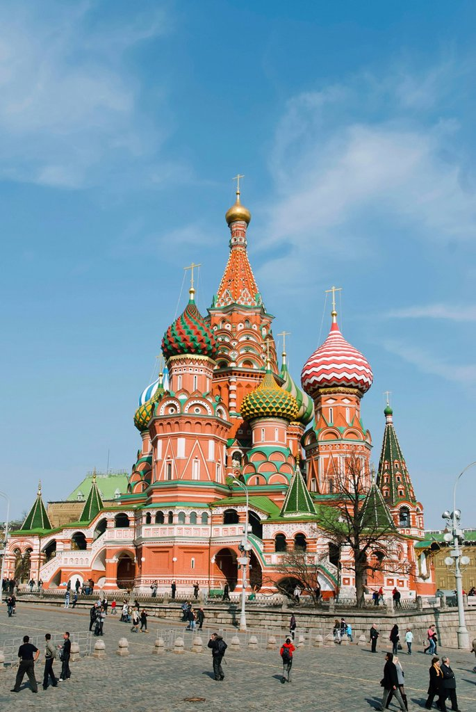 Stock Photo: 1848-680365 St. Basil´s Cathedral, Red Square, UNESCO World Heritage Site, Moscow, Russia