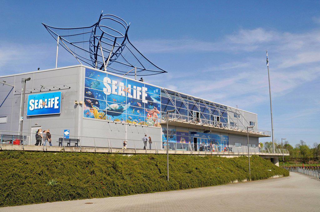 Sea Life, Sealife, fresh and salt water aquarium, shopping center, Neue Mitte district, Centro, Oberhausen, Ruhrgebiet area, North Rhine_Westphalia, Germany, Europe : Stock Photo