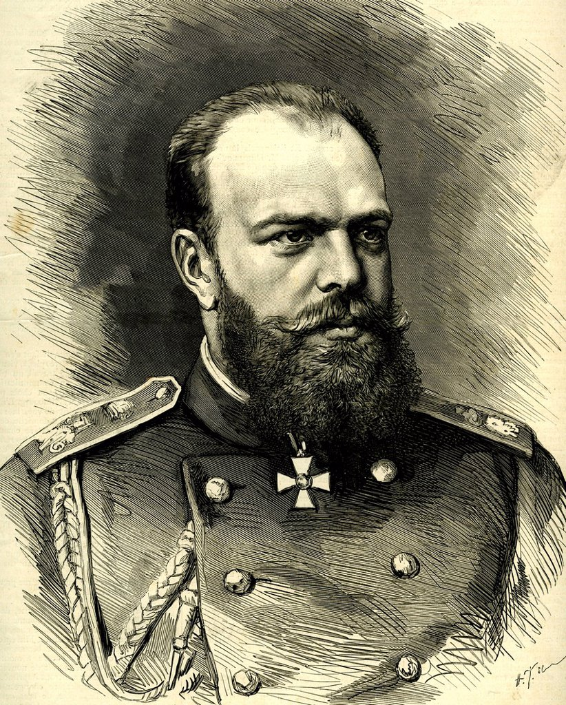 Stock Photo: 1848-681229 Alexander III Alexandrovitch Romanov of Russia, 1845 _ 1894, historical portrait, 1896