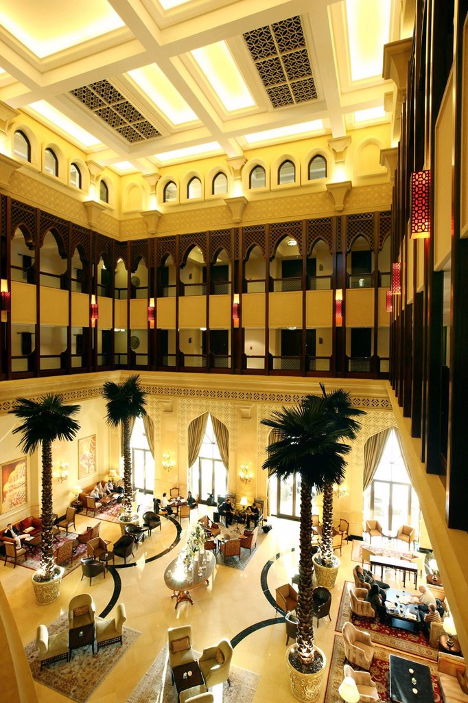 Stock Photo: 1848-684238 Lobby, Shangri_La Hotel, Qaryat Al Beri, Abu Dhabi, United Arab Emirates, Middle East