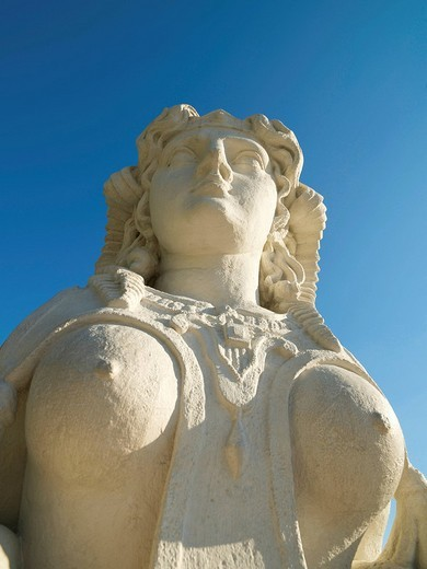 Sphinx in the Belvedere Castle gardens, Vienna, Austria, Europe : Stock Photo