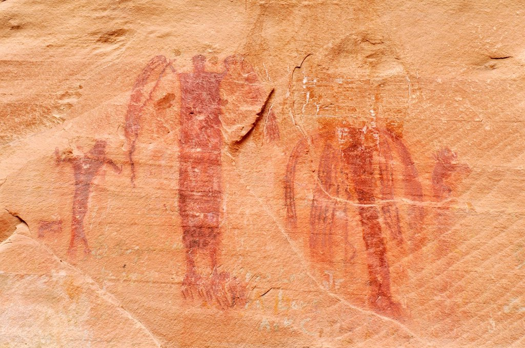 Stock Photo: 1848-684742 Native American Indian rock art, Buckhorn Draw Petroglyphs, San Rafael Swell, Utah, USA, North America