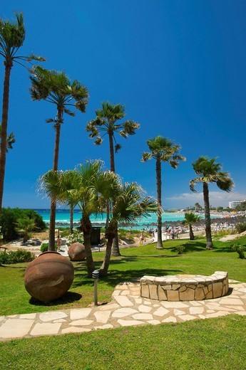 Nissi Beach Resort in Ayia Napa, Southern Cyprus, Cyprus : Stock Photo