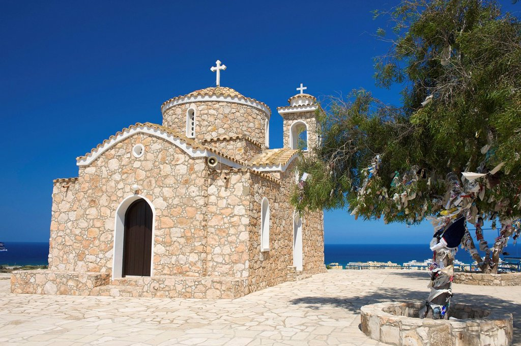 Stock Photo: 1848-685766 Prophitis Elias Church in Protaras near Ayia Napa, Southern Cyprus, Cyprus