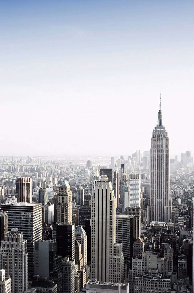 Stock Photo: 1848-686470 View from the Rockefeller Center with the Empire State Building, Manhattan, New York, USA