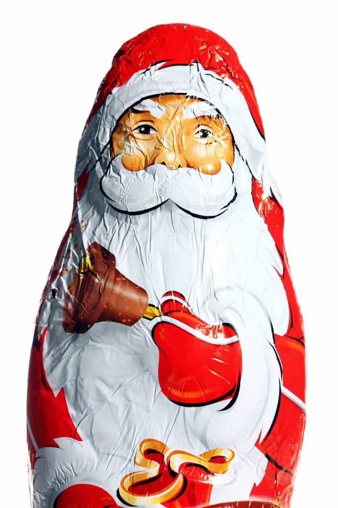 Stock Photo: 1848-687013 Chocolate Santa Claus, Father Christmas