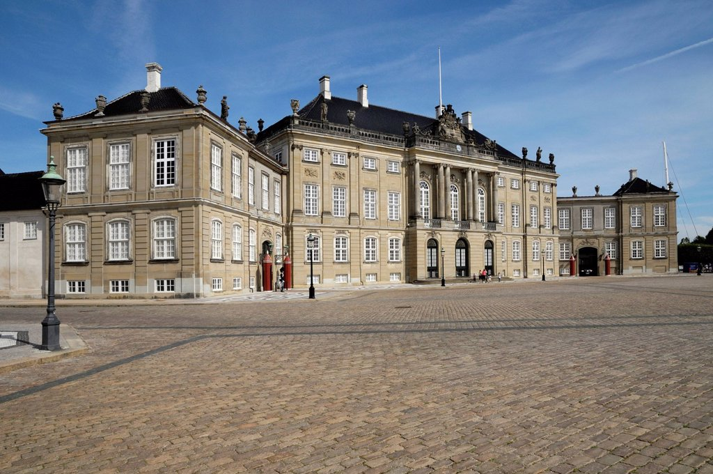 Stock Photo: 1848-687055 Amalienborg Palace, Copenhagen, Denmark, Scandinavia, Europe