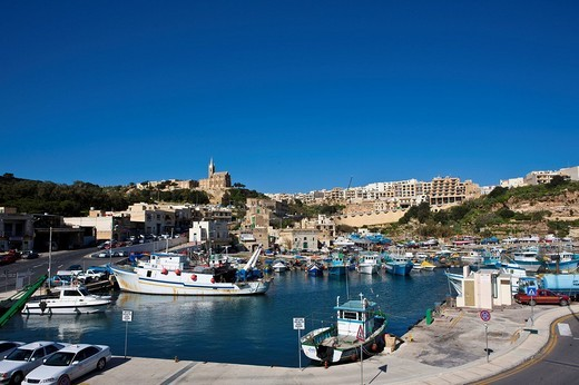 Port of Mgarr, Mgarr, Gozo, Malta, Europe : Stock Photo