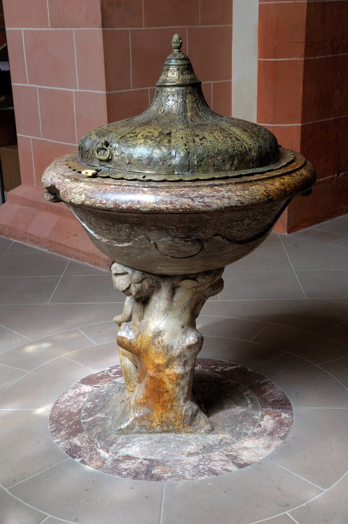 Stock Photo: 1848-688764 Baptismal font, Saint Bartholomeus´s Cathedral, Frankfurt am Main, Hesse, Germany, Europe