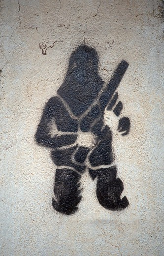 Stock Photo: 1848-69007 Graffiti of the independence movement, Corsica, France, Europe