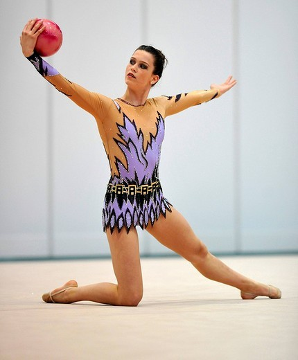 Stock Photo: 1848-69102 Mira Bimperling, Germany, German RSG Rhythmic Gymnastics Championships, Frankfurt am Main, Hesse, Germany, Europe
