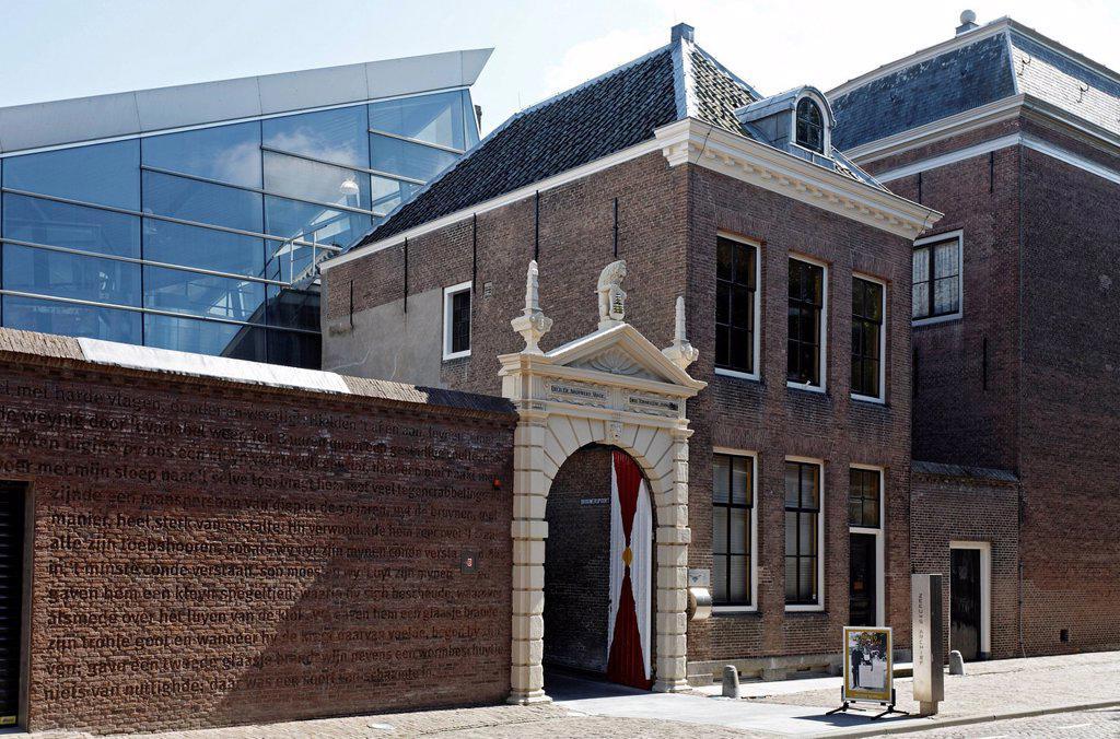 Stock Photo: 1848-691266 Historic doorway to Zeeuws Archief archive, Van de Perrehuis building, Middelburg, Walcheren, Zeeland, Netherlands, Europe