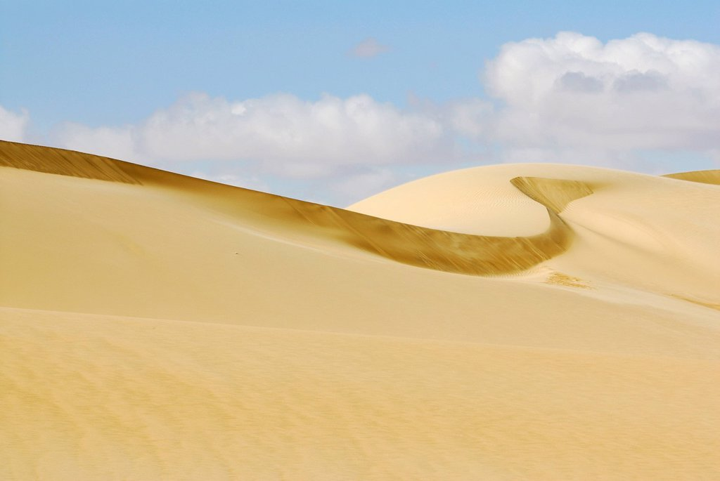 Stock Photo: 1848-691313 Sand dunes between Al Fayoum Oasis and Bahariya Oasis, Western Desert, Egypt, Africa