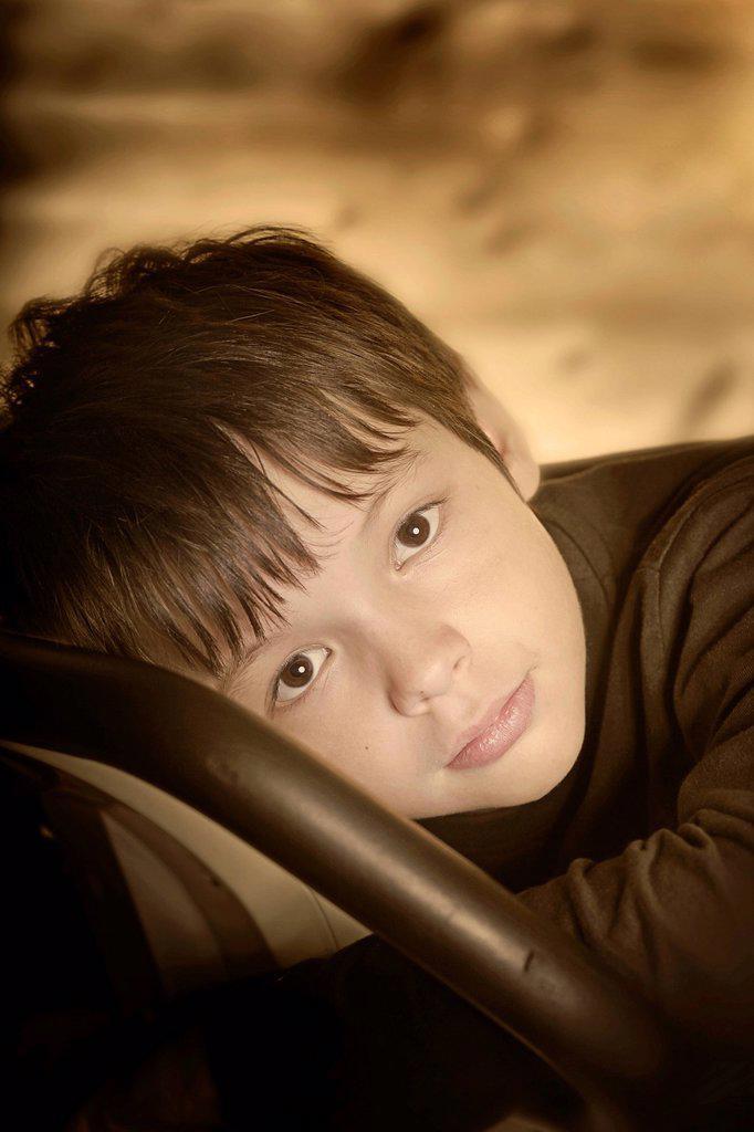Sad child : Stock Photo