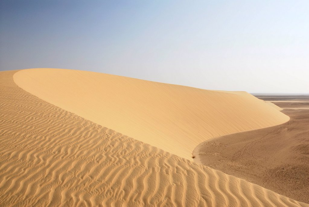 Stock Photo: 1848-692587 Dunes near the Temple of Qasr Dush, Kharga Oasis, Western Desert, Libyan Desert, Egypt, Africa