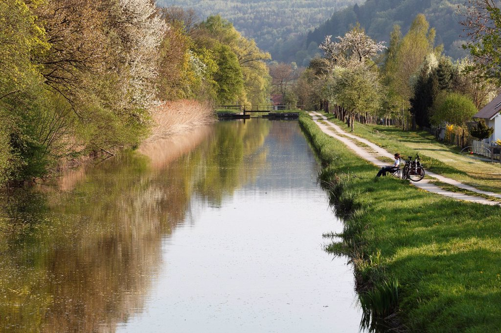 Stock Photo: 1848-693020 Ludwig_Donau_Main_Kanal or Ludwig Canal, Berching, Upper Palatinate, Bavaria, Germany, Europe