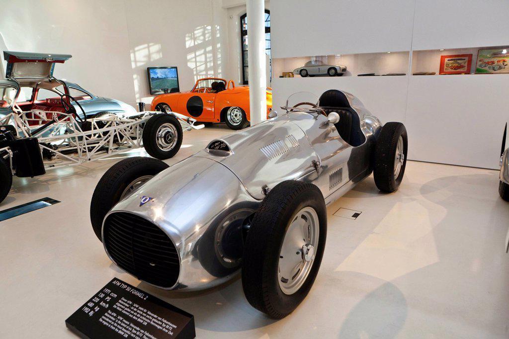 AFM Type 50 Formula 2 from 1952, Prototyp Museum Hamburg, Hafencity quarter, Hamburg, Germany, Europe : Stock Photo
