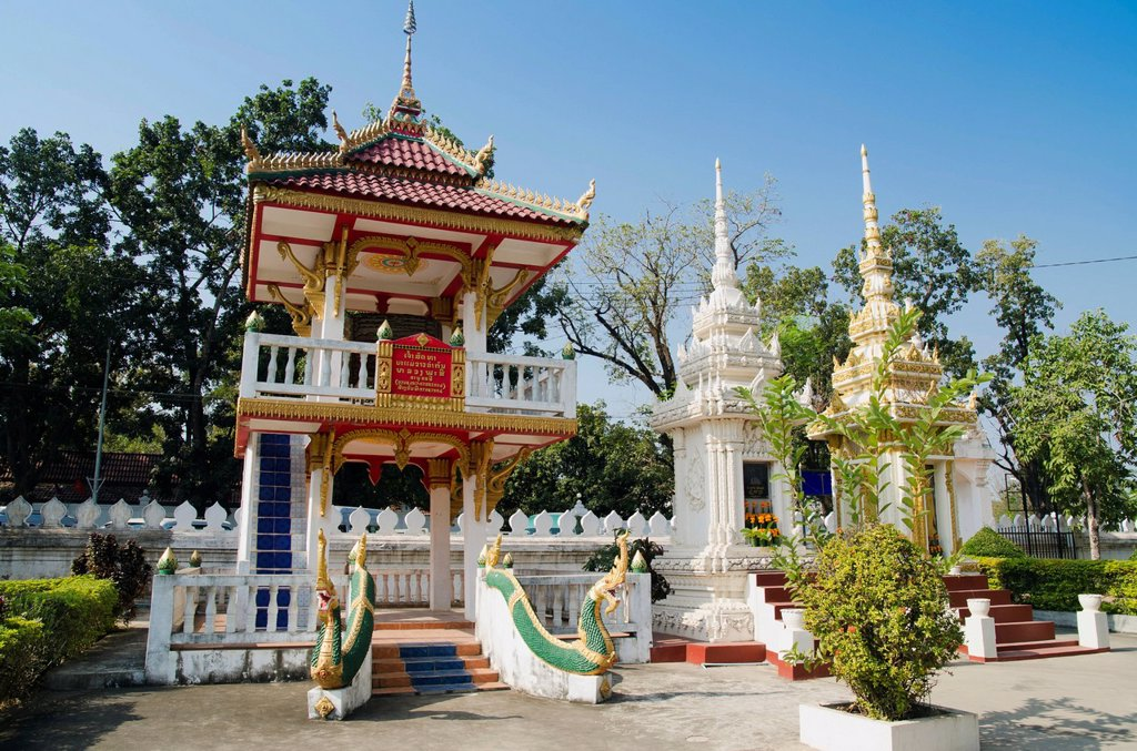 Stock Photo: 1848-695865 Drum tower, Wat Sisaket temple, Vientiane, Laos, Indochina, Asia