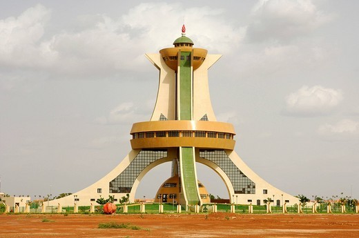 Stock Photo: 1848-69662 Memorial to the Martyrs, Ouagadougou, Burkina Faso, Africa