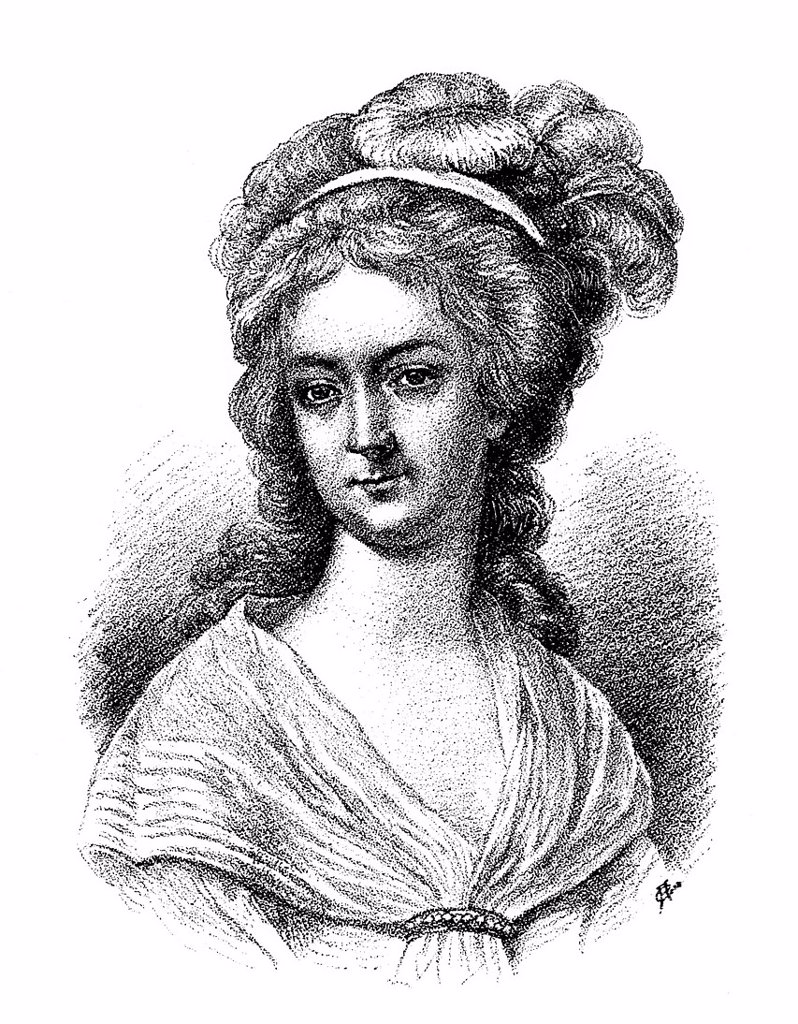 Historical print, portrait of Anna Margaretha or Margarethe Schwan, 1766 _ 1796, friend of Johann Christoph Friedrich von Schiller, from the Bildatlas zur Geschichte der Deutschen Nationalliteratur, Illustrated Atlas of the History of German National Lite. Historical print, portrait of Anna Margaretha or Margarethe Schwan, 1766 _ 1796, friend of Johann Christoph Friedrich von Schiller, from the Bildatlas zur Geschichte der Deutschen Nationalliteratur, Illustrated Atlas of the History of German N : Stock Photo