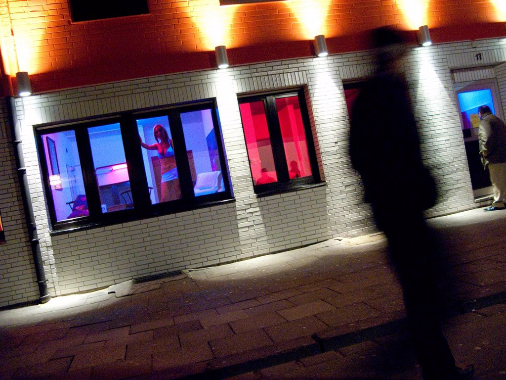 Stock Photo: 1848-698504 Prostitution, customers, punters in a street with brothels, Oberhausen, Ruhr Area, Germany, Europe