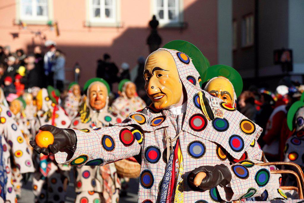 Oberdorfer Schantle, historical Narrensprung festival in Oberndorf am Neckar, Oberndorfer Fasnet, Alemannic carnival, Baden_Wuerttemberg, Germany, Europe : Stock Photo